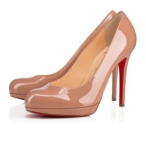 Christian Louboutin Patent Leather Nude pumps